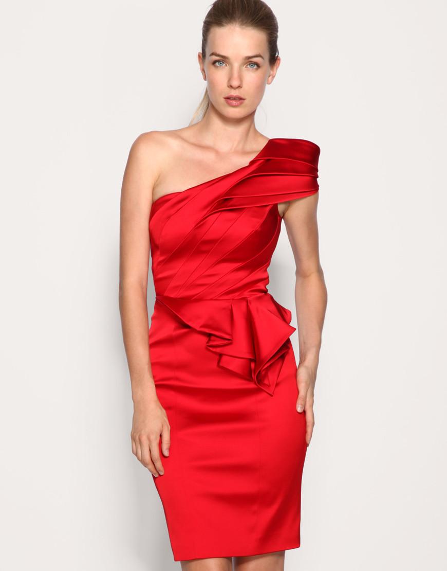 4ae2cfb6310 Алое платье Karen Millen оригинального кроя KM70043  продажа