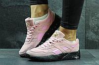 Кроссовки женские Puma Trinomic, розовые, замшевые