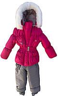 """Детский зимний костюм для девочек """"Мишка"""", куртка+полукомбинезон"""
