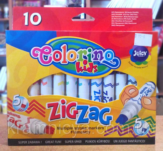Маркеры со сдвоенным наконечником Zig Zag 10 цветов Colorino (34647PTR)