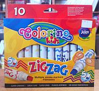 Маркеры со сдвоенным наконечником Zig Zag 10 цветов Colorino (34647PTR), фото 1