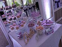 Свадебный Кенди бар в фиолетовом цвете  (под ключ) на 30 чел, фото 1