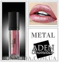 """Aden Metal Lipstick жидкая стойкая помада Металлик """"Isabelle"""" № 02"""