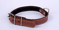 Ошейник COLLAR с синтепоном 20мм/32-40см 01376, коричневый