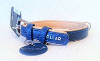 Ошейник COLLAR brilliance без украшений, ширина 35мм, длина 46-60см, 388012, синий