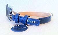 Ошейник COLLAR brilliance без украшений, ширина 25мм, длина 38-49см, 387712, синий