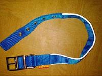 Ошейник COLLAR Dog Extremе двойной нейлоновый со светоотражающей вставкой 40мм/60-72см, 64542 голубой
