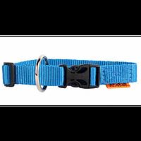 Ошейник одинарный нейлоновый Collar Dog Extremе, регулируемый 10мм/20-30см. 42842 голубой