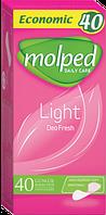 Molped гігієнічні прокладки щоденi  light fresh deo eco 40шт.