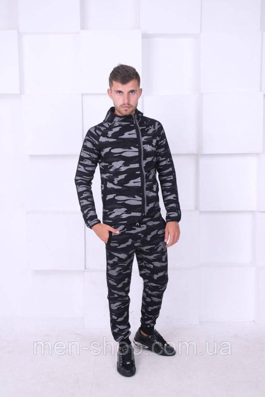 Мужской спортивный костюм расцветка хаки, темный, Люкс качество