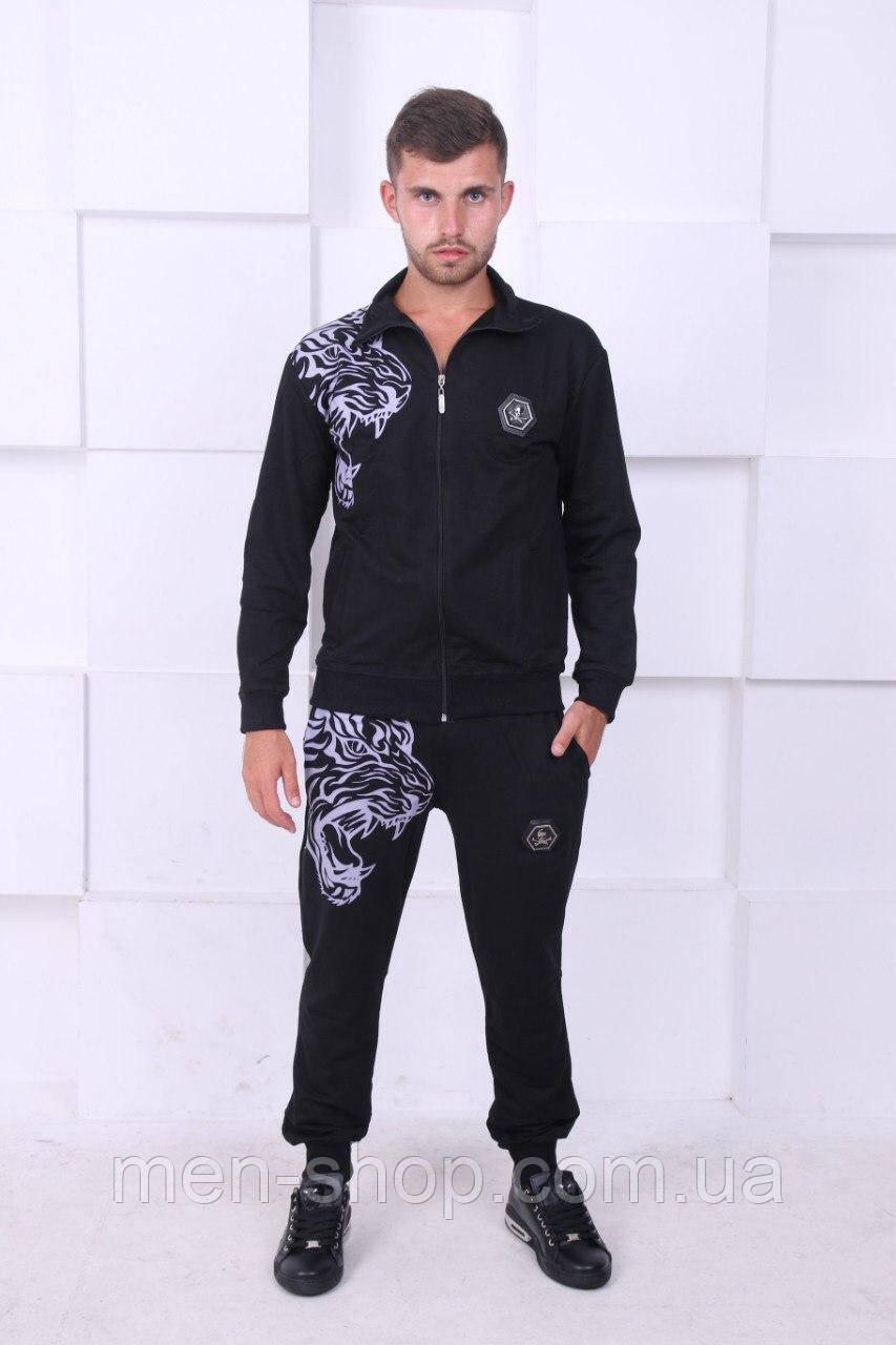 Спортивный темный костюм, мужской в стиле Philipp Plein