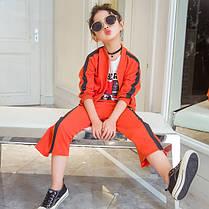 Костюм дитячий для дівчинки з смужкою, фото 2