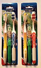 """Набор зубных щёток,- """"МАМА, ПАПА, Я"""", 3 в 1."""