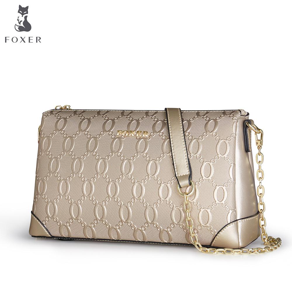 Элегантная брендовая женская сумка FOXER.