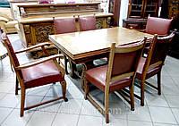 """Комплект """"Француз"""" из натурального дерева для гостиной-столовой, мебель антикварная, деревянная мебель"""