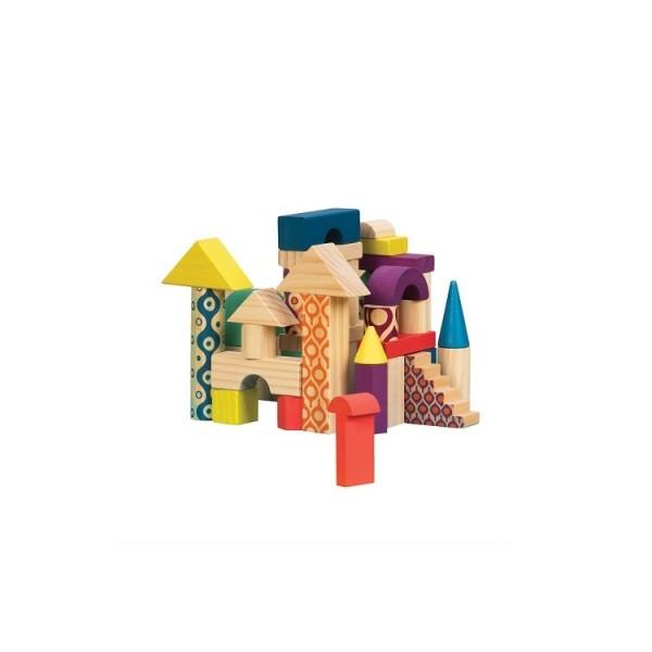 Деревянные кубики Еловый домик (40 деталей в сумочке) BX1361Z