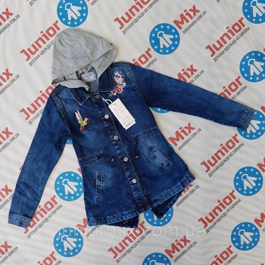 Подростковый джинсовый удленённый пиджак для девочек оптом SEAGULL