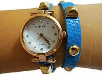 Женские часы Vikec в стиле модерн , голубые, фото 1