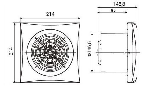 Размер вентилятора Soler & Palau SILENT-300 CZ SILVER