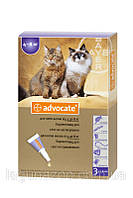 Упаковка АДВОКАТ для котов весом от 4 до 8кг(3 пипетки)