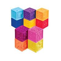 Развивающие силиконовые кубики - ПОСЧИТАЙ-КА! (10 кубиков,  в сумочке) (Battat )