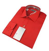 Однотонные рубашки De Luxe с длинным рукавом размеры: 47-54