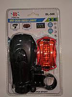 Фонарик BL 508 COB велосипедный, отражатель