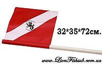 Флажок LionFish.sub для буев и плотиков из ПВХ 32х35х72см.