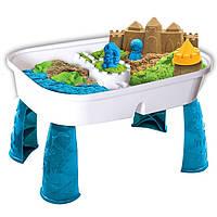 Набор песка для детского творчества Kinetic Sand Table - Игровой стол с песком, 1360г (71433)