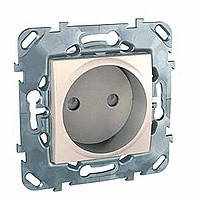 Розетка без заземления с шторками сл. кость Schneider Electric - Unica (Шнейдер Электрик Уника mgu3.033.25)