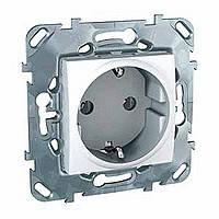 Розетка с заземлением белая Schneider Electric - Unica (Шнейдер Электрик Уника mgu3.036.18)