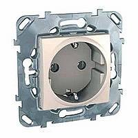 Розетка с заземлением сл.кость Schneider Electric - Unica (Шнейдер Электрик Уника mgu3.036.25)