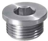 DIN 908 Заглушка резьбовая 10х1 из нержавеющей стали с буртиком и шестигранным углублением под ключ