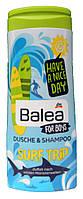 Balea шампунь-гель детский для мальчиков SURF TRIP (300 ml) Германия