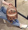 Кожаный рюкзак женский бронз, фото 3