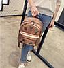 Кожаный рюкзак женский бронз, фото 4