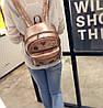 Кожаный рюкзак женский бронз, фото 5