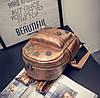 Кожаный рюкзак женский бронз, фото 6