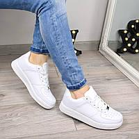 Кроссовки женские Nike Air Force белые 3486, люкс качество