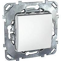 Выключатель одноклавишный белый Schneider Electric - Unica (Шнейдер Электрик Уника mgu3.201.18), фото 1