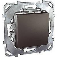 Выключатель одноклавишный графит Schneider Electric - Unica (Шнейдер Электрик Уника mgu3.201.12), фото 1