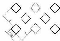 Лист перфорированный: квадратные отверстия, расположенные под углом 45°