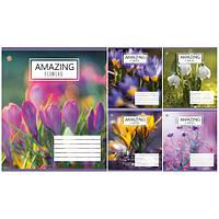 Тетрадь в клетку 12 листов795191«Amazing Flowers» Зошит Украины