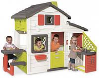 Домик для друзей с чердаком и летней кухней Smoby 810200