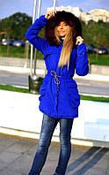 Парка женская с капюшоном ткань парка на подкладке+ синтепон размеры: 42,44,46,48