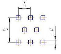 Лист перфорированный: квадратные отверстия, расположенные со смещением