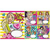Тетрадь в косую линию 12 листов 794550 «Barbie Party» Зошит Украины