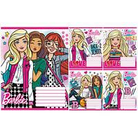 Тетрадь в косую линию 12 листов 760761 «Barbie School» Зошит Украины