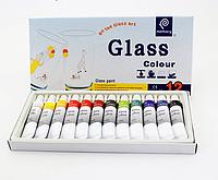 Набор акриловых красок  для стекла Memory, 12шт по 12мл