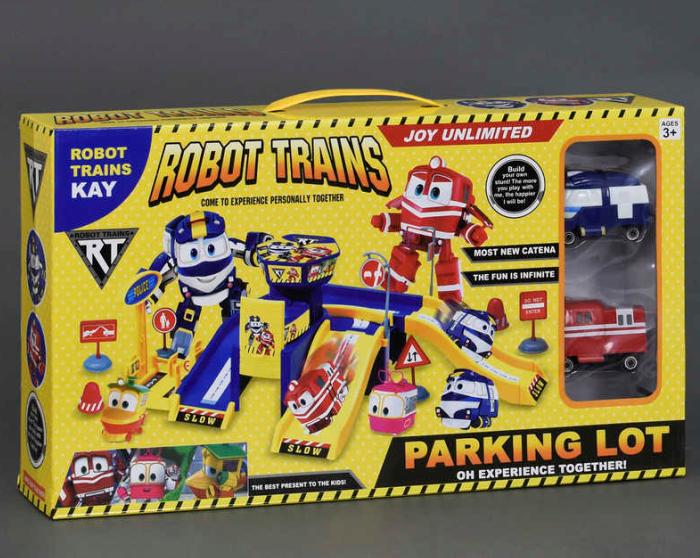 Игровой набор. Игровой набор гараж с машинками.Гараж Robot Train.